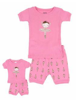 Shorts Kids & Toddler Pajamas Matching Doll & Girls Pajamas 100% Cotton Owl Pjs Set (2-10 Years) Fits American Girl