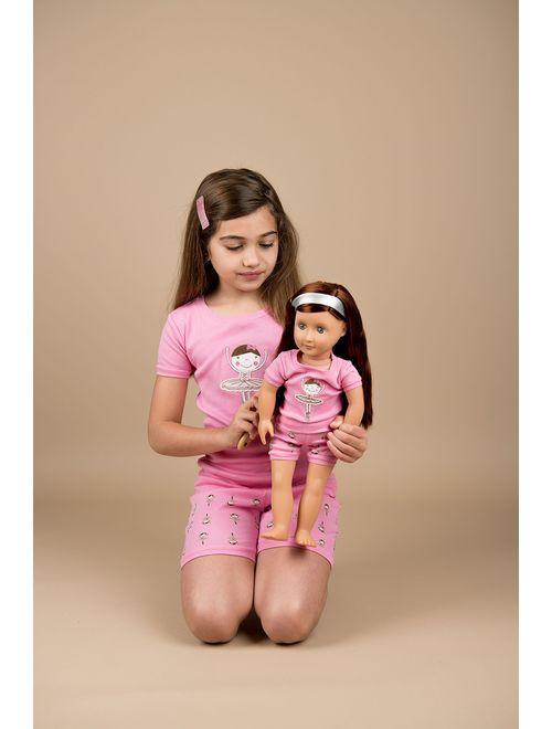 Leveret Shorts Kids & Toddler Pajamas Matching Doll & Girls Pajamas 100% Cotton Owl Pjs Set (2-10 Years) Fits American Girl