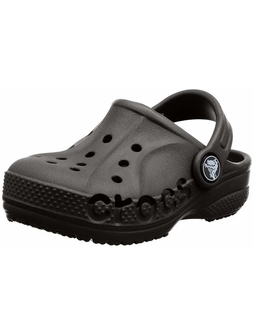 Crocs Kids' Baya Clog  Comfortable Slip On Water Shoe for Toddlers, Boys, Girls, Black, 6 M US Toddler