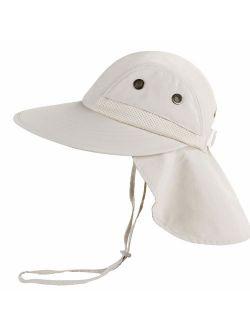 Camptrace Safari Kids Sun Hat Wide Brim Bucket Cap Toddler Fishing Hats Boy Girl