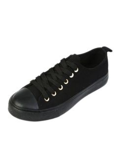 Women's Canvas Sneakers Casual Shoes Solid Colors Low Top Low Cut Lace up