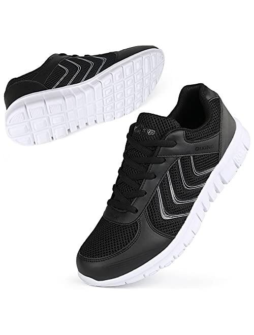 DUOYANGJIASHA Women's Athletic Mesh Breathable Casual Sneakers Lace Up Running ,Tennis Shoes