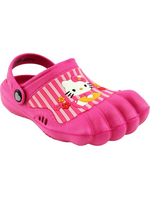 Hello Kitty Girls Pink Silly Feet Clogs (Toddler)