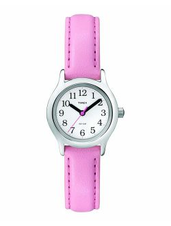 Girls T79081 My First Easy Reader Pink Faux Leather Strap Watch