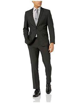 Unlisted Men's 2 Button Slim Fit Suit With Hemmed Pant