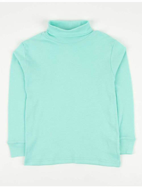 Leveret Girls Boys & Toddler Solid Turtleneck