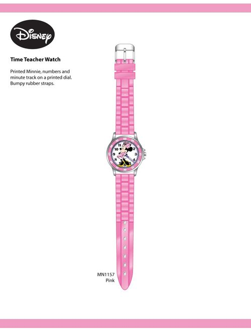 Minnie Mouse Kids' Analog Watch with Silver-Tone Casing