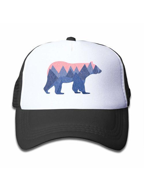 Waldeal Boys and Girls 3-13 Year Old Bear Mountain Youth Toddler Mesh Hats Baseball Trucker Cap