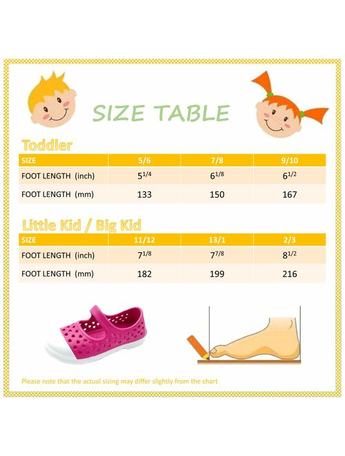 PEBBLES SHOES Toddler and Girl's Waterproof Maryjane with Strap | EVA Upper Material and Odor Resistant Footbed with Arch Support | Flexible and Lightweight Synthetic Sho