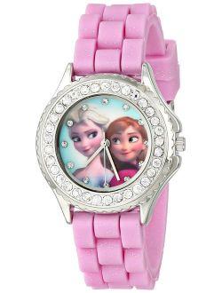 Kids' Fzn3554 Frozen Anna And Elsa Rhinestone Pink Band