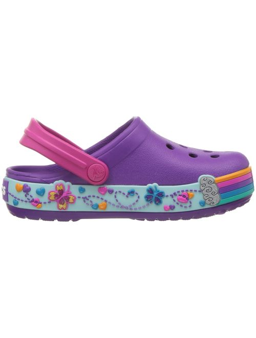 Crocs Kids' Crocband Fun Lab Butterfly Graphic Clog