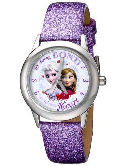 Kids' W000972 Frozen Tween Watch With Purple Sparkle Band