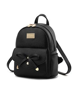 Qzny Womens Backpack Soft Face Backpack Ladies Pu Leather Rivet Small Bag Leisure Travel Bag Shopping Outdoor Color : A, Size : 302315cm