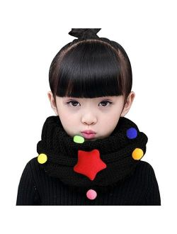 Kids Boys Girls Winter Infinity Stripe Scarf Neck Warmer Baby Knit Warm Soft Neckerchief Circle Loop Scarves