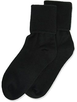 Jefferies Socks Little Girls' Seamless Turn Cuff Socks (Pack of 6)
