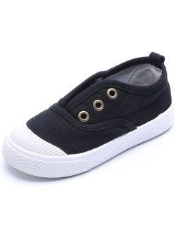 Baby's Boy's Girl's Canvas Light Weight Slip-on Loafer Casual Running Sneakers