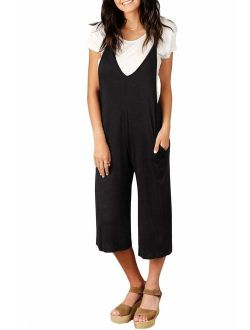Spadehill Women's Casual Loose Fit Jumpsuit with Pocket