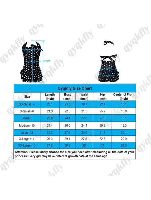 FBA qyqkfly Polka Dot Girls Kids Bathing Suits Adjustable Swimsuits