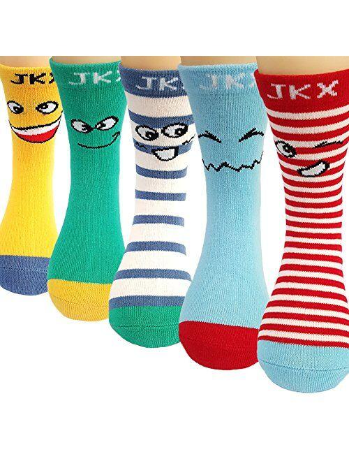 10 Pairs Kids Boys Girls Colorful Fashion Cotton Crew Socks