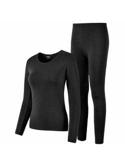 HEROBIKER Thermal Underwear Women Ultra-Soft Set Base Layer Top & Bottom Long Johns with Fleece Lined Winter