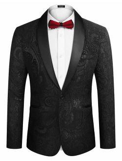 Men's Floral Party Dress Suit Luxury Embroidered Wedding Blazer Dinner Tuxedo Jacket
