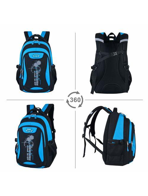 Fanspack School Backpack Fashion Star Print Large Capacity School Bookbag Travel Backpack