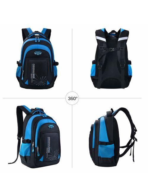backpack for boys, Fanspack 2019 new large school bag for boys school bookbag kids backpack