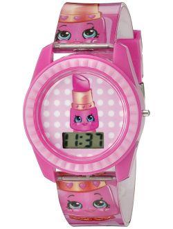 Shopkins Kids' KIN4001 Digital Display Quartz Pink Watch