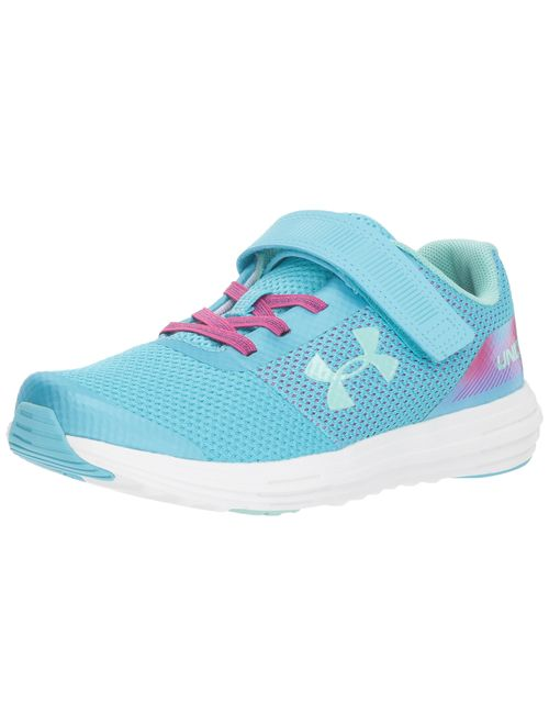 Under Armour Kids' Pre School Surge Rn Prism Adjustable Closure Sneaker Tempest