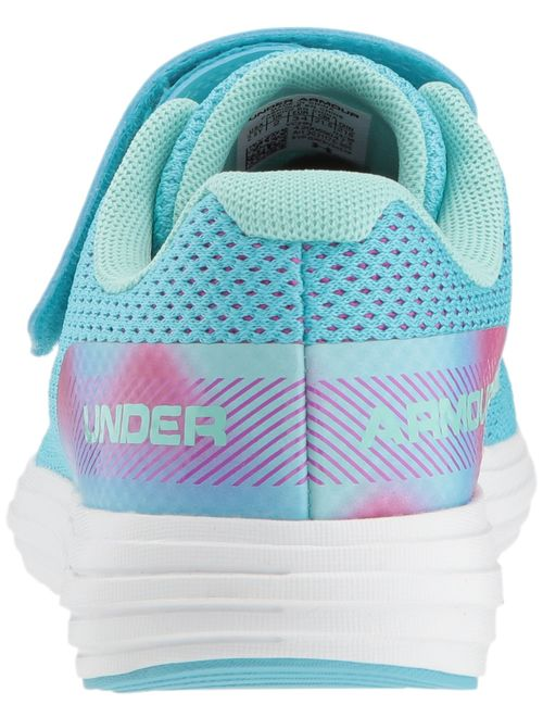 Under Armour Kids' Pre School Surge Rn Prism Adjustable Closure Sneaker Tempest