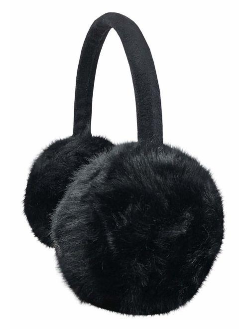 N'Ice Caps Girls Soft Plush Padded Knitted Design Adjustable Winter Earmuffs