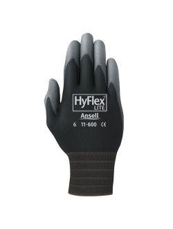 Pro HyFlex Lite Gloves, Black/Gray, Size 10, 12 Pairs