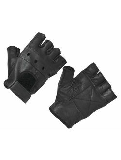 SUNSIOM Men's Leather Gloves Half Finger Fingerless Stage Sports Cycling Driving New