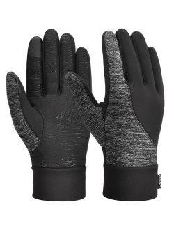 Winter Gloves for Women Men Thickened Winter Gloves Touch Screen Gloves Cold Weather Gloves with Anti-slip Silicone and Stretchy Cuff, Black, S
