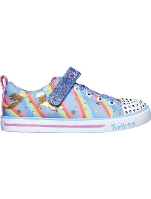Girls' Skechers Twinkle Toes Sparkle Lite Magical Rainbows Sneaker