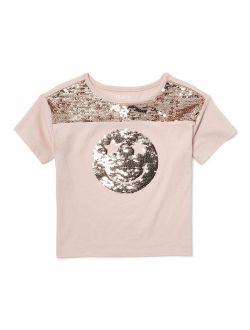 Flip Sequin Glitter Graphic T-shirt (little Girls & Big Girls)