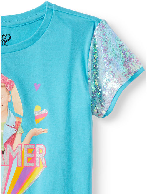 Nickelodeon JoJo Siwa Sequin Sleeve Graphic T-Shirt (Little Girls & Big Girls)