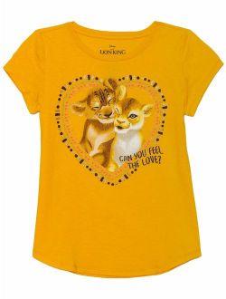 The Lion King Glitter Graphic T-shirt (little Girls & Big Girls)