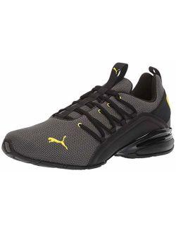 Men's Axelion Sneaker, Charcoal Gray-blazing Yellow, 13 M Us