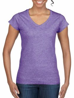 Softstyle Women's Short Sleeve Fitted V-neck T-shirt