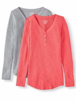 Women's Thermal T-shirt, 2 Pack Bundle
