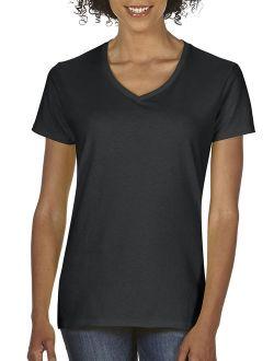 Heavy Cotton Women's Classic Short Sleeve V-neck T-shirt