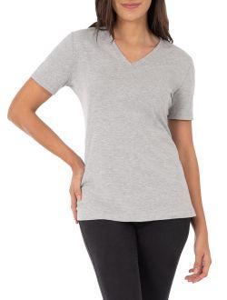 Women's Essential Short Sleeve V-neck T-shirt