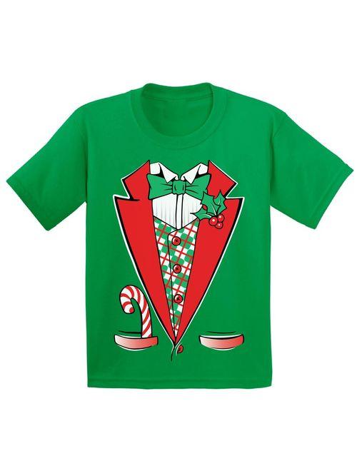 Awkward Styles Christmas Tuxedo Costume Christmas Shirts for Kids Santa Funny Kid's Christmas Holiday Shirt Christmas Costume Shirts for Boys Christmas Shirts for Girls Y