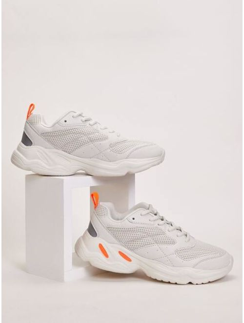Men Lace-up Front Chunky Sneakers