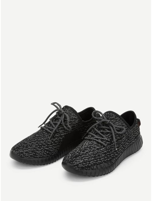 Men Lace-up Knit Sneakers