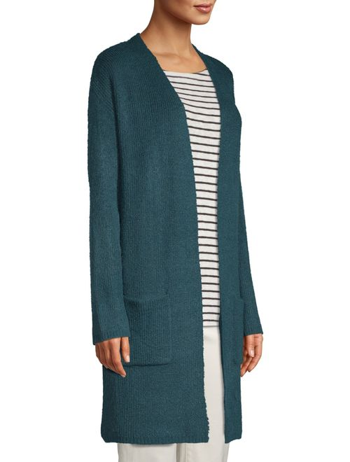 Time and Tru Women's Pocket Rib Duster Cardigan