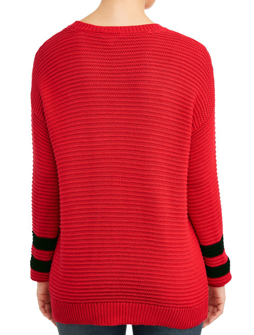 Time and Tru Women's Ottoman Stitch Sweater