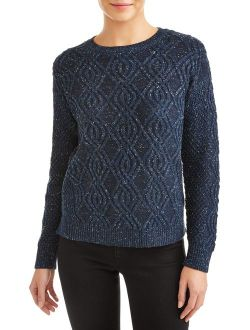 Crewneck Cable Sweater Women's