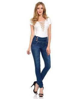 Diamante Women's Jeans Push Up Style G819